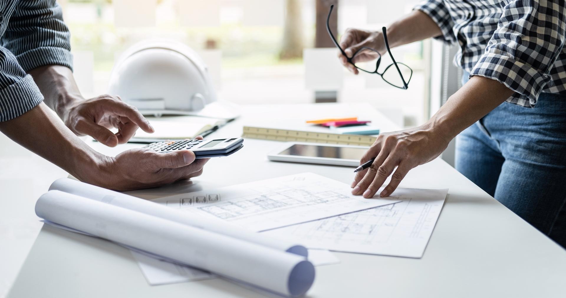 Construction company invoice process